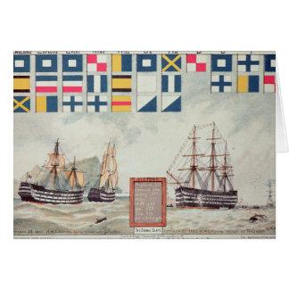 La señal de Nelson en Trafalgar Tarjeta De Felicitación