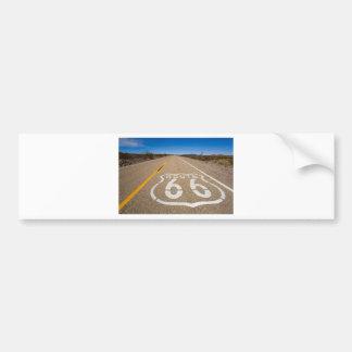 la señal de tráfico de la ruta 66 comienza la pegatina para auto
