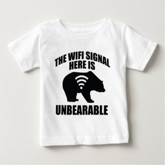 La señal de Wifi aquí es insoportable Playera De Bebé