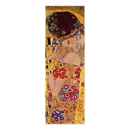 La señal del vintage del beso de Gustavo Klimt Plantilla De Tarjeta De Negocio