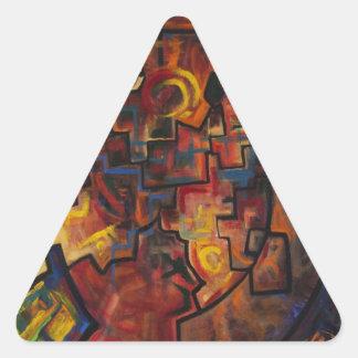 La señal calcomanía de trianguladas