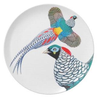 La señora Amherst Pheasant Plate Plato De Comida