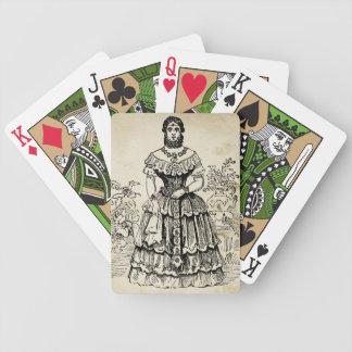 La señora barbuda cartas de juego