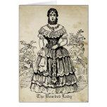 La señora barbuda tarjeta