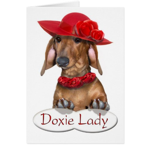 La señora Card de Doxie Felicitación