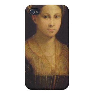 La señora con el turbante verde iPhone 4/4S fundas