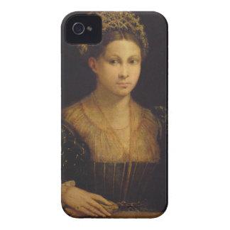 La señora con el turbante verde iPhone 4 Case-Mate carcasas