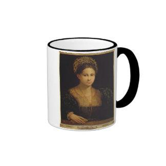 La señora con el turbante verde tazas de café