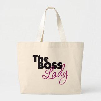 La señora de Boss Bolsa Tela Grande