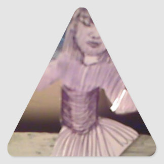 la señora de hadas pegatina triangulo