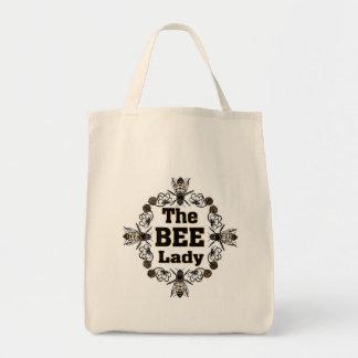 la señora de la abeja bolsa tela para la compra