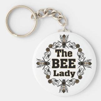 la señora de la abeja llavero personalizado