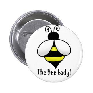 La señora de la abeja pin