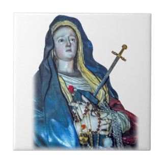 La señora de la baldosa cerámica de los dolores azulejo cuadrado pequeño