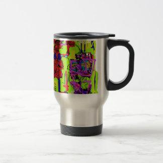 La señora de la marioneta posee su diseño punky taza térmica