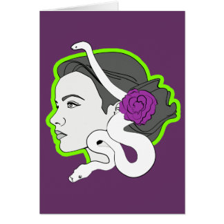 La señora de la serpiente felicitacion