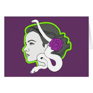 La señora de la serpiente tarjetón