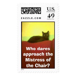 La señora de la silla sello