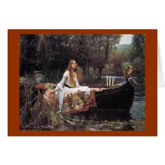 La señora de la tarjeta de felicitación del chalot