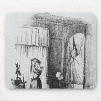 La señora de mediana edad en el cuarto Doble-Acost Tapete De Raton
