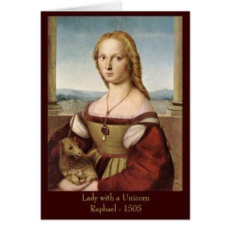 La señora de Raphael con una tarjeta de felicitaci