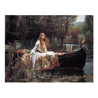 La señora de Shalott de Juan W. Waterhouse Tarjeta Postal