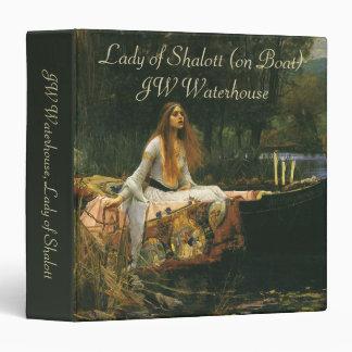 La señora de Shalott (en el barco) por el