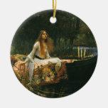 La señora de Shalott (en el barco) por el Ornamento Para Reyes Magos