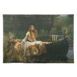 La señora de Shalott (en el barco) por el Mantel Individual