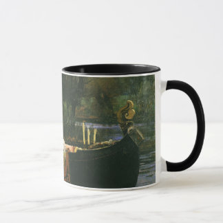 La señora de Shalott en el barco por el Waterhouse