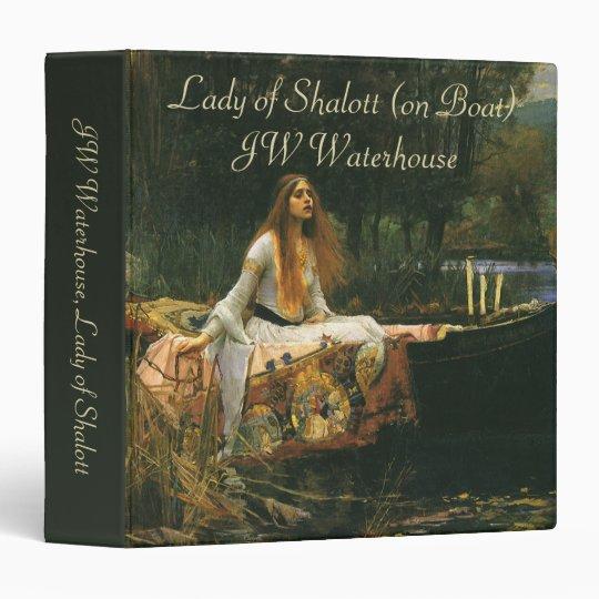"""La señora de Shalott en el barco por el Waterhouse Carpeta 1 1/2"""""""