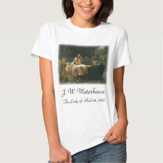 La señora de Shalott en el barco por el Waterhouse Polera