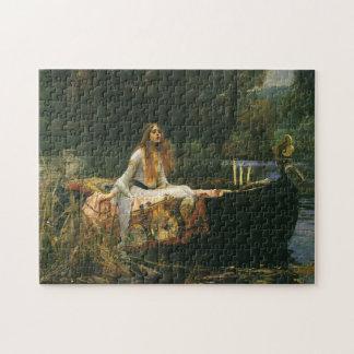 La señora de Shalott en el barco por el Waterhouse Rompecabezas Con Fotos