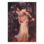 La señora de Shalott (estudio) Tarjeton