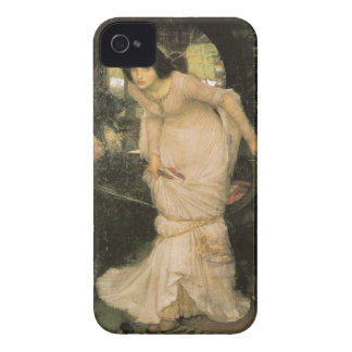 La señora de Shalott - John William Waterhouse iPhone 4 Case-Mate Cárcasa