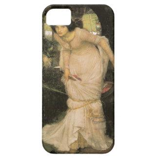 La señora de Shalott - John William Waterhouse iPhone 5 Carcasas