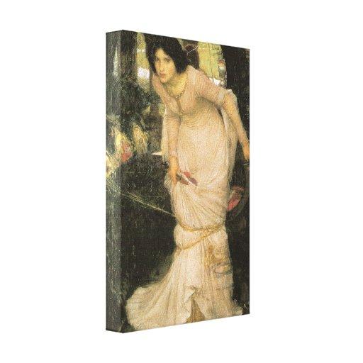 La señora de Shalott - John William Waterhouse Impresión En Lona