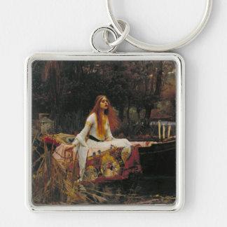 La señora de Shalott, John William Waterhouse Llavero Cuadrado Plateado