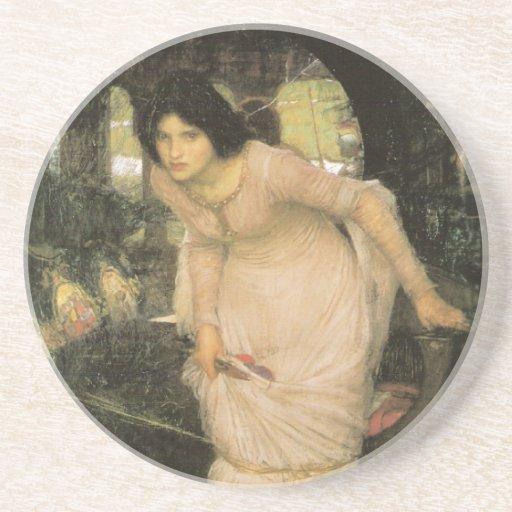 La señora de Shalott - John William Waterhouse Posavaso Para Bebida