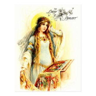 La señora de Shalott Tarjetas Postales