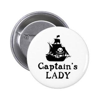La señora del capitán pin redondo 5 cm