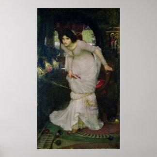 La señora del chalote por el Waterhouse de Juan Póster
