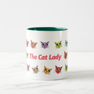 La señora del gato tazas