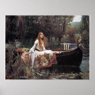 La señora del poster de Shalott de Juan W. Waterho