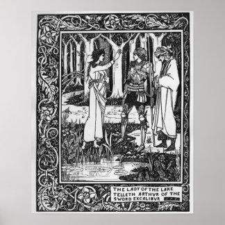 La señora del telleth Arturo del lago Póster