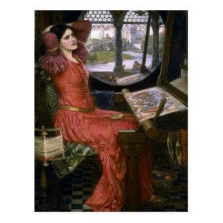 La señora del Waterhouse de Shalott Tarjeta Postal