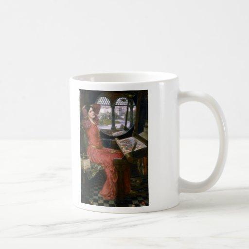 La señora del Waterhouse de Shalott Tazas De Café