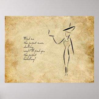 La señora en el gorra grande #2 póster