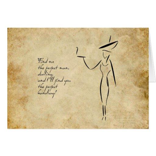 La señora en el gorra grande #2 tarjeta de felicitación