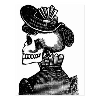 La señora esquelética. Circa los 1900s tempranos Tarjetas Postales